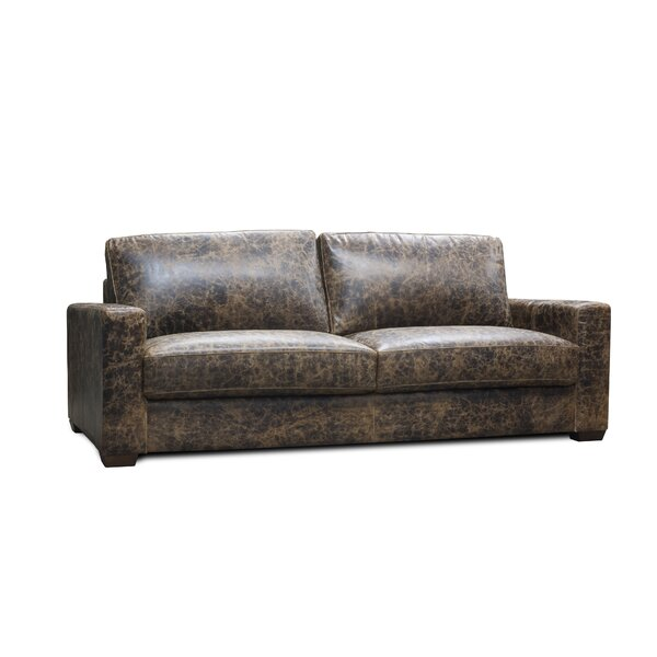 Norah Leather Sofa by 17 Stories