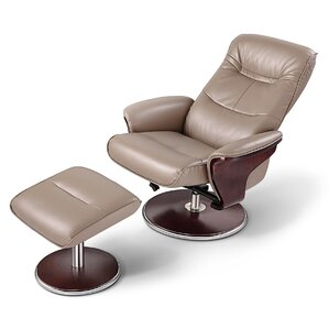 Milano Manual Swivel Recliner With Ottoman by Artiva USA