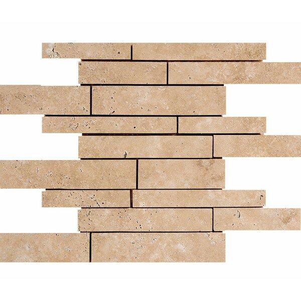 Atrium 0.38 x 12 Travertine Mosaic Wall & Floor Tile