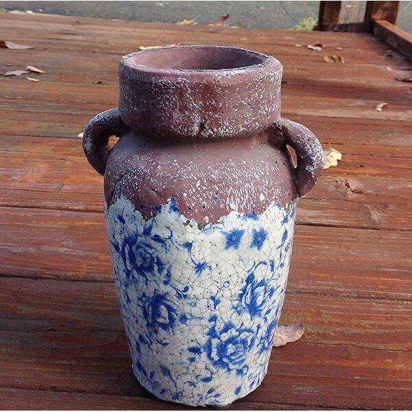 Higham Old World Flower Ceramic Urn Planter by Charlton Home