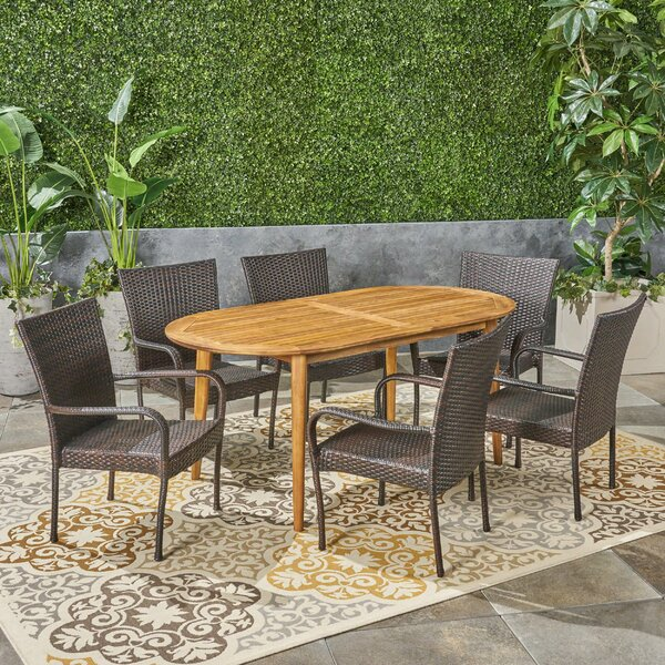 Belford Outdoor 7 Piece Dining Set by Ebern Designs