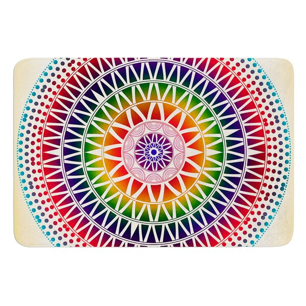 Colorful Vibrant Mandala by Famenxt Bath Mat by East Urban Home