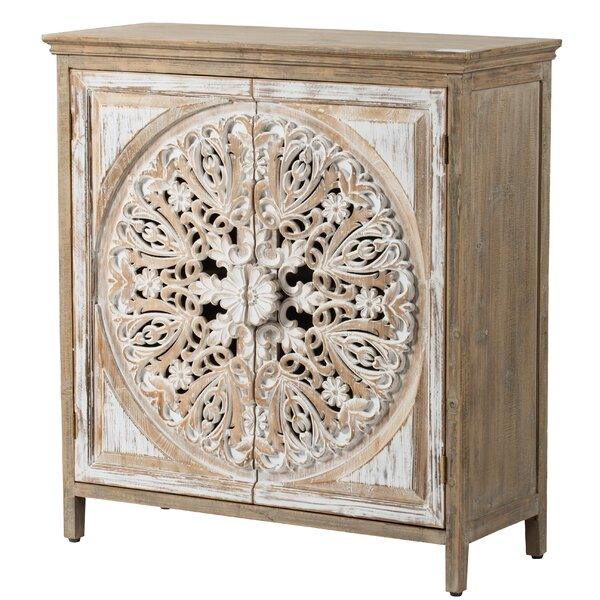 Havran Wooden 2 Door Accent Cabinet by Bungalow Rose Bungalow Rose