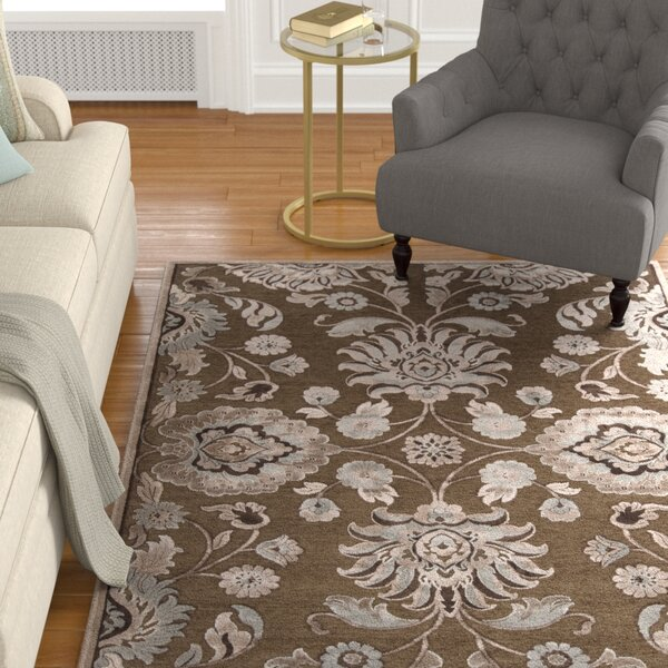 Cashwell Oriental Coffee/Beige Area Rug by Alcott Hill