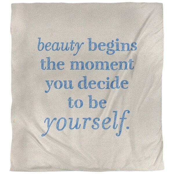 True Beauty Quote Single Duvet Cover