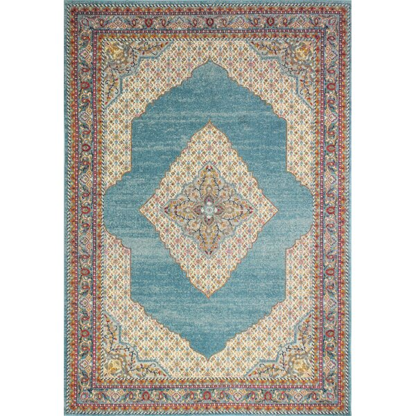 Alperin Teal Area Rug by World Menagerie