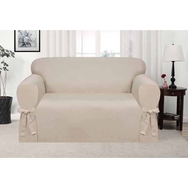 Box Cushion Loveseat Slipcover by Ophelia & Co.