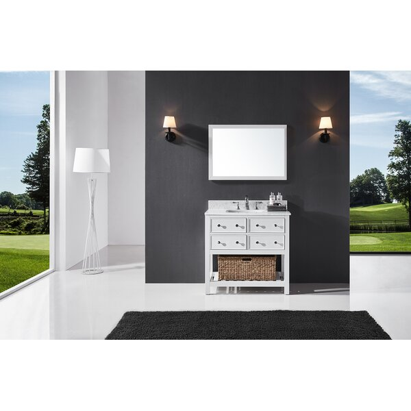 Celestia 36 Single Bathroom Vanity Set with Mirror by Three Posts