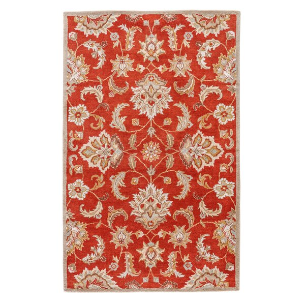 Red & Gray Area Rug by Birch Lane™