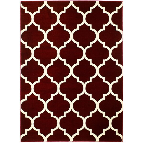 Burgundy Area Rug by AllStar Rugs