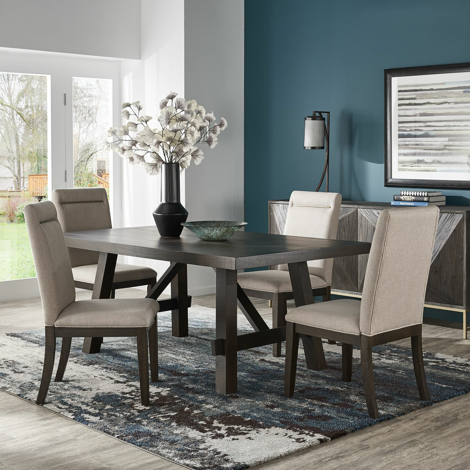 Gracie Oaks Labbe 5 Piece Dining Table