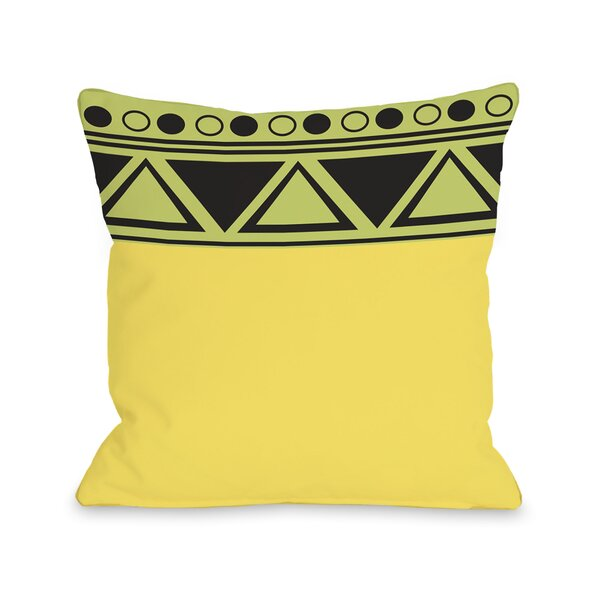 Aziz Aztec Top Triangles Throw Pillow by One Bella Casa