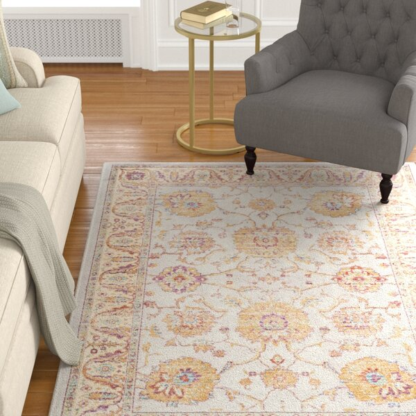 Enlow Silver/Ivory Area Rug by Darby Home Co