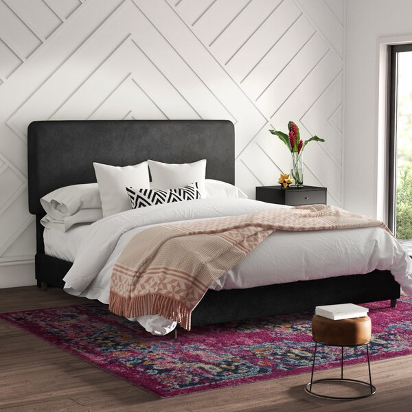 Mclaughlin Velvet Upholstered Standard Bed by Mercury Row