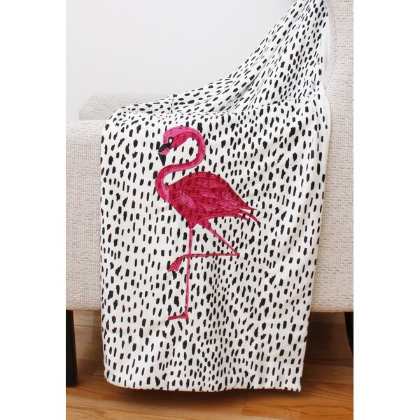 Sandlewood Flamingo Micromink Decorative Throw by Bay Isle Home