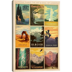 'Art and Soul of America National Parks Collection: Multi-Park Collage I' Graphic Art Print by East Urban Home