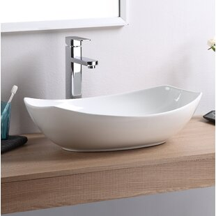 Reviews Vitreous China Oval Vessel Bathroom Sink ByFine Fixtures