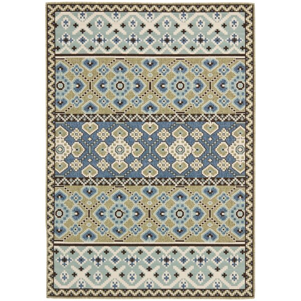 Mannings Green/Blue Indoor/Outdoor Area Rug by World Menagerie
