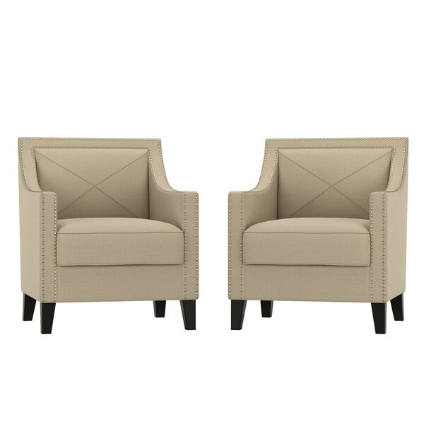 Elvin 20.5-inch Armchair (Set of 2) by Everly Quinn Everly Quinn