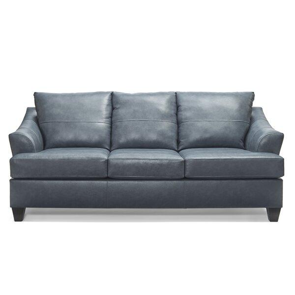 Stjohn Leather Sofa Bed by Ivy Bronx Ivy Bronx