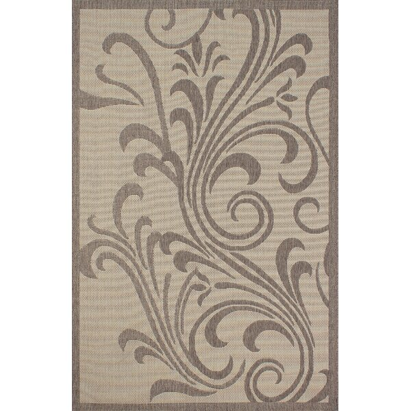 Stacey Light Brown Indoor/Outdoor Area Rug by Winston Porter