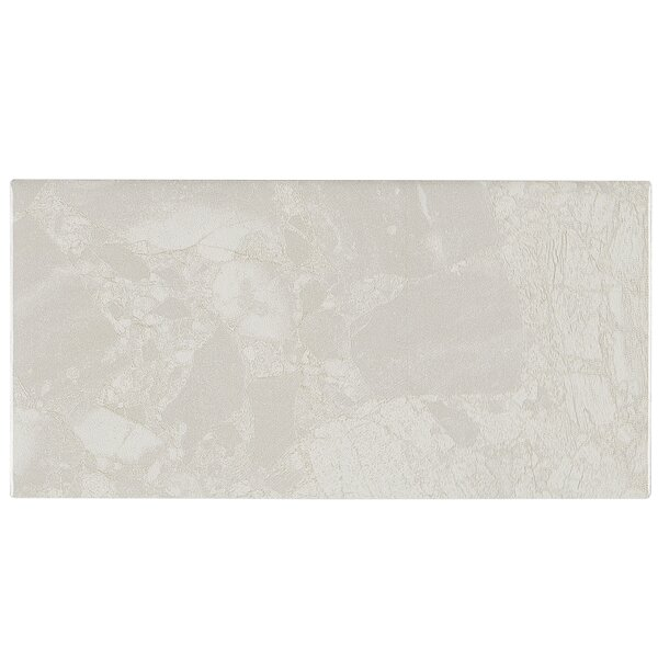 Bedford 4 x 8 Ceramic Subway Tile in White Water by Itona Tile