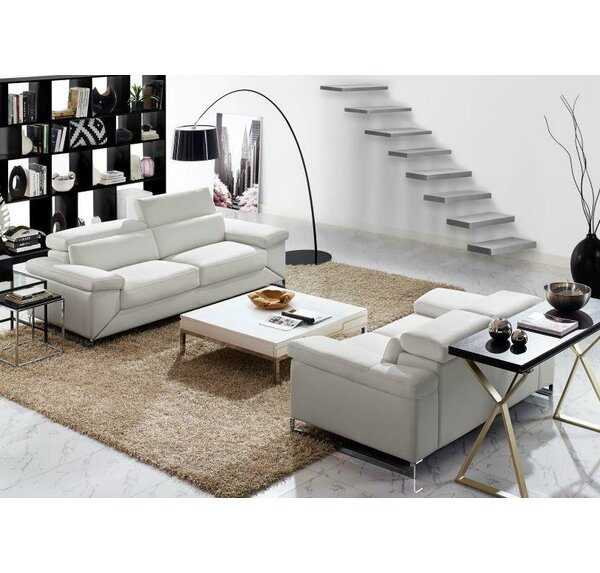 Asa 2 Piece Leather Living Room Set by Wade Logan
