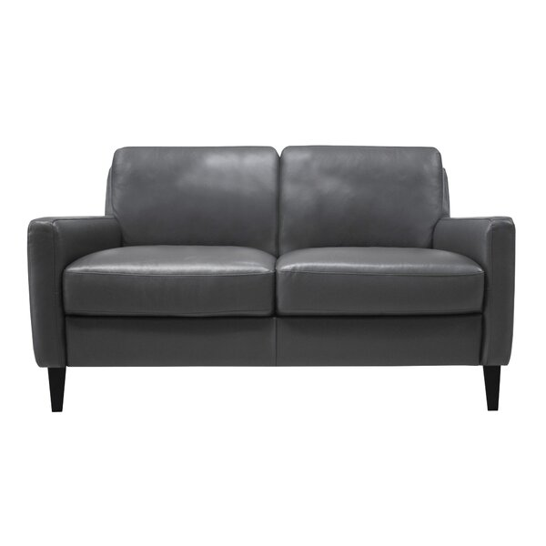 In Vogue Carnmoon Leather Loveseat by Ivy Bronx by Ivy Bronx