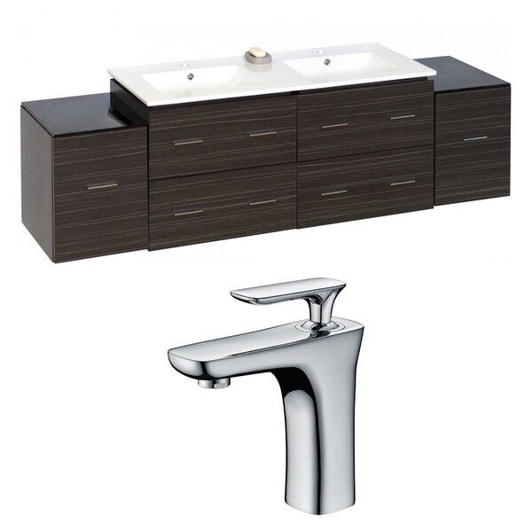 Kyra 76 Rectangular Wood Double Bathroom Vanity Set by Orren Ellis