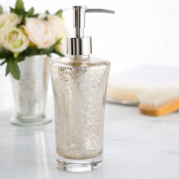 Mercury Glass Vanity Lotion Dispenser by Birch Lane™