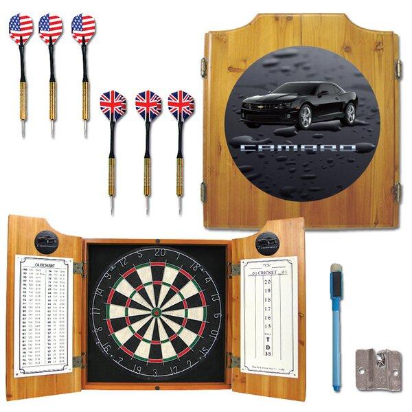 Black Camaro Dart Cabinet in Medium Wood by Trademark Global