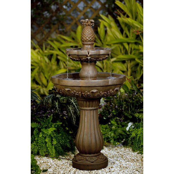 Resin/Fiberglass Classic Pineapple Water Fountain by Jeco Inc.