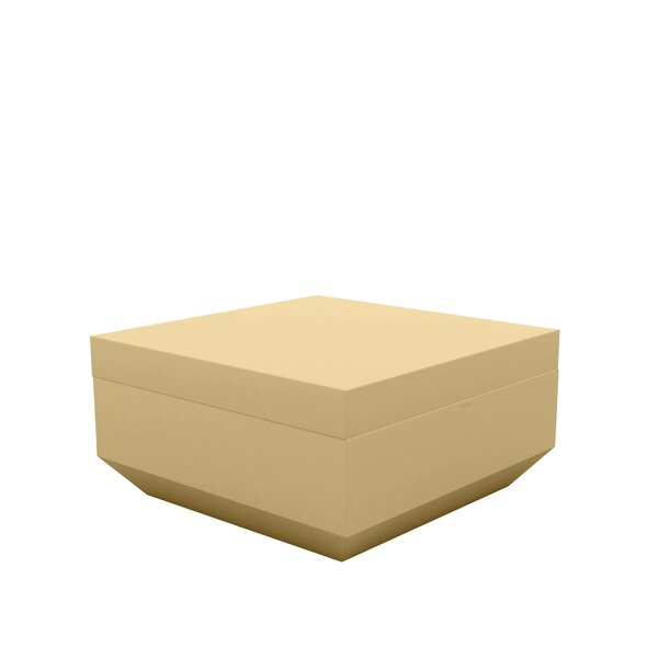 Vela Lacquered Outdoor Ottoman with Cushion