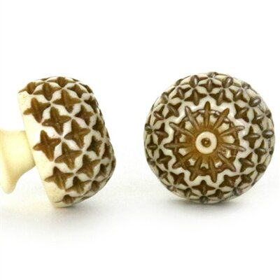 Carved Round Knob (Set Of 2) By MarktSq