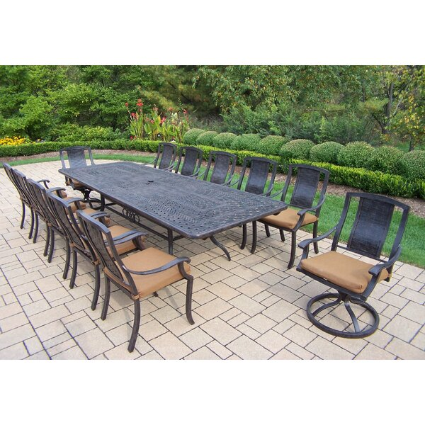 Vanguard 13 Piece Dining Set with Cushions by Oakland Living