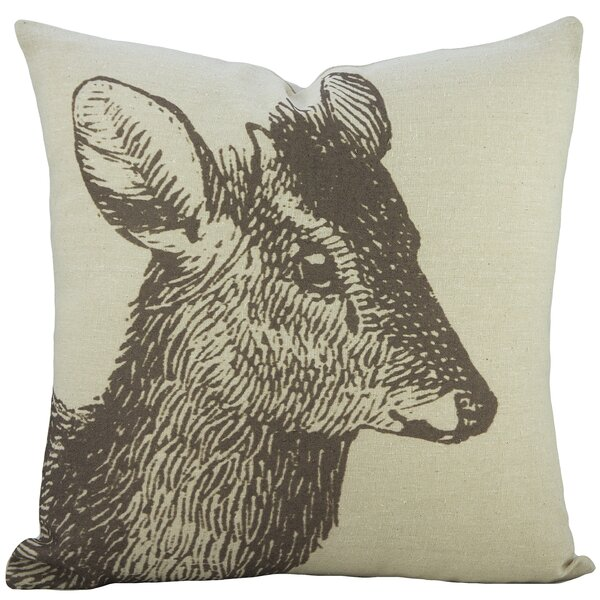 Fawn Cotton Throw Pillow by TheWatsonShop
