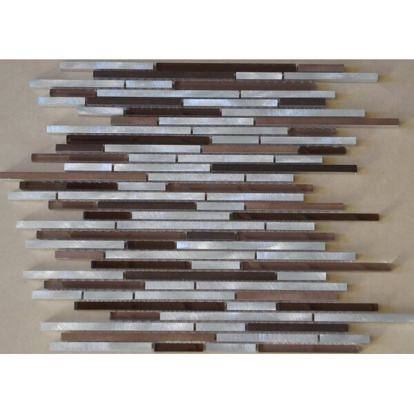 Urban Random Sized Aluminum and Glass Mosaic Tile in 3 Color Blend by Mulia Tile