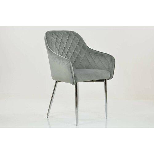 Polsterstuhl Spinosa Ebern Designs Polsterfarbe: Hellgrau | Küche und Esszimmer > Stühle und Hocker > Polsterstühle | Ebern Designs
