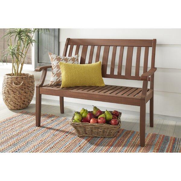 Hursey Wooden Garden Bench by Three Posts