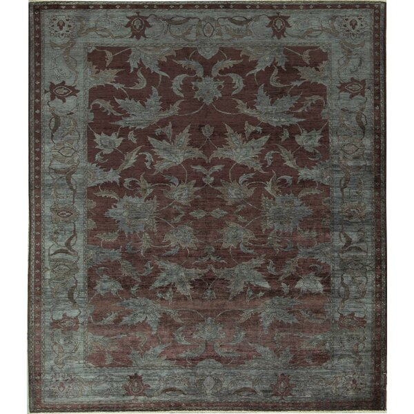 Oriental Hand-Knotted Wool Brown Area Rug