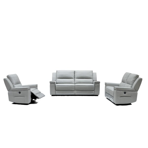 Colmar Reclining Leather 3 Piece Living Room Set By Orren Ellis No Copoun