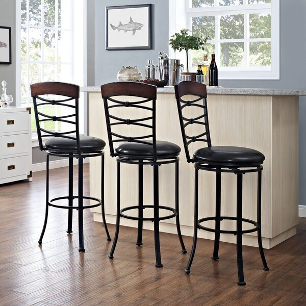 Jeremiah 46.25 Swivel Bar Stool by Red Barrel Studio