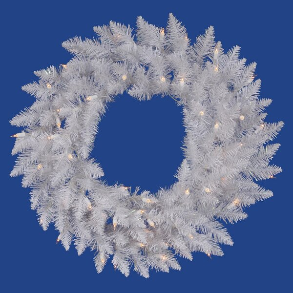 48 Lighted Artificial Sparkle Spruce Christmas Wreath by Vickerman