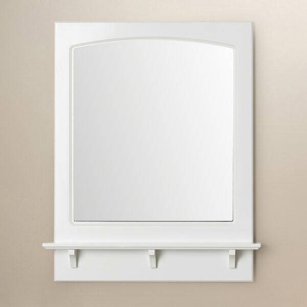 Winston Porter Rectangle White Wall Mirror With Shelf Reviews