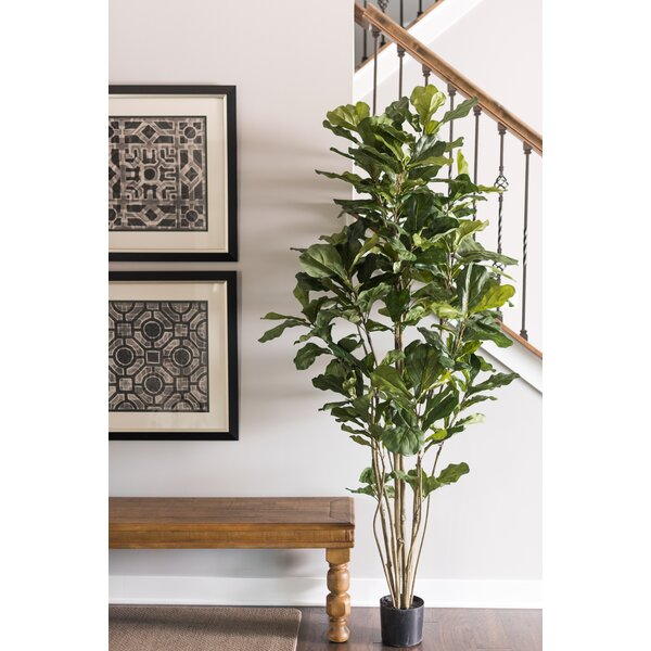 Artificial Potted Fiddle Foliage Tree in Pot by Br