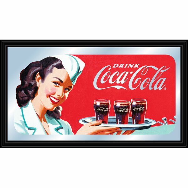 Coca-Cola Waitress Framed Vintage Advertisement by Trademark Global
