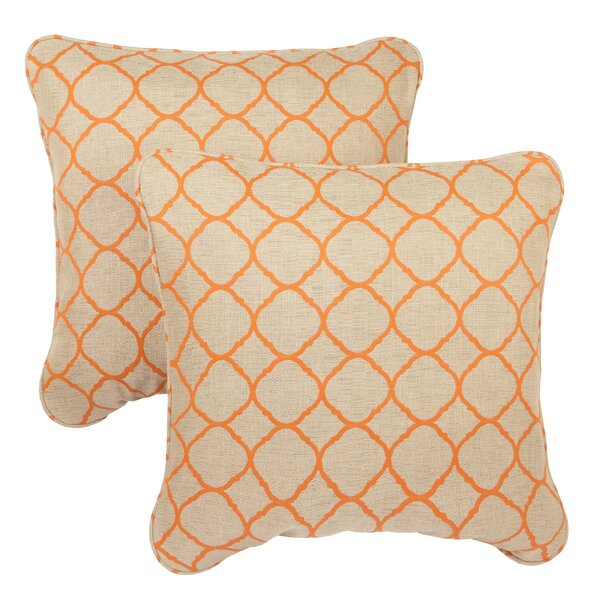 Bateson Outdoor Sunbrella Throw Pillow (Set of 2) by Darby Home Co
