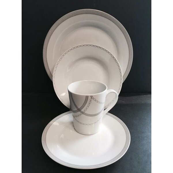 Payer Round Rim 16 Piece Dinnerware Set, Service for 4 by Winston Porter