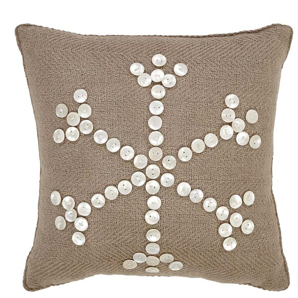 Pearlescent Cotton Throw Pillow by The Holiday Aisle