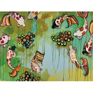 'Koi Fish' by Eli Halpin Painting Print on Wrapped Canvas by GreenBox Art